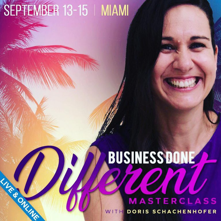 Business Done Different Masterclass with Doris in Miami